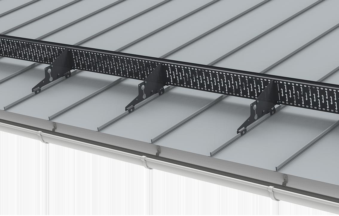 Lumiaita on suunniteltu varmistamaan isoissa kiinteistöissä ja laajoilla katopinta-aloilla ettei lumikuormat pääse putoamaan katolta.